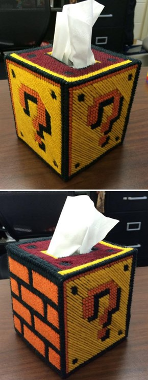 Question Block Tissue Box