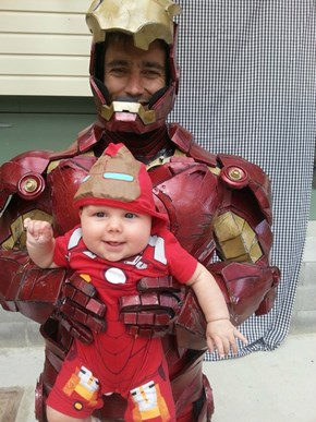 Iron Man Cosplayer Made His Own Sidekick