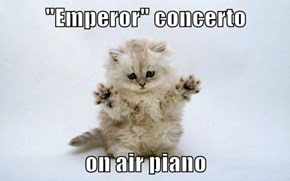 """Emperor"" concerto  on air piano"