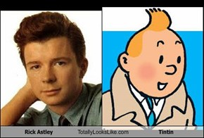 Rick Astley Totally Looks Like Tintin