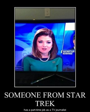 SOMEONE FROM STAR TREK