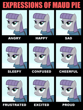 Expressions of Maud Pie