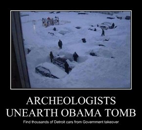 ARCHEOLOGISTS UNEARTH OBAMA TOMB