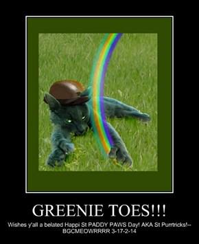 GREENIE TOES!!!