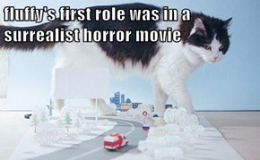 fluffy's first role was in a surrealist horror movie