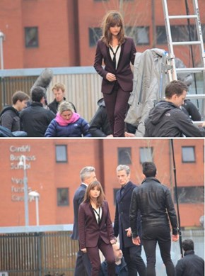 Jenna Coleman's Wild Costume Change on the Set Of Doctor Who