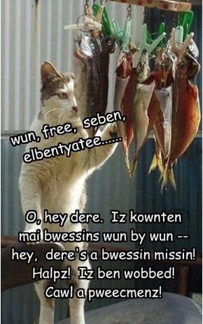 wun, free,  seben,  elbentyatee......