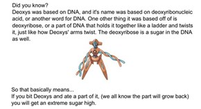 Pokémon Science: Deoxys Will Give You a Sugar High
