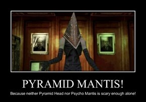 Pyramid Mantis, now raping demon nurses on Shadow Moses Island