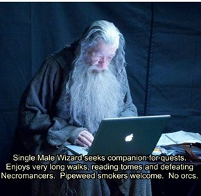 Middle Earth Personals Column