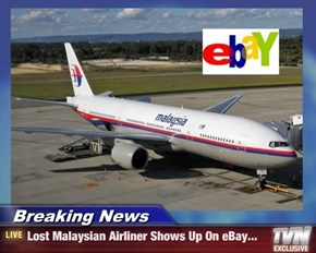 Breaking News - Lost Malaysian Airliner Shows Up On eBay...