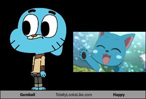 Gumball Totally Looks Like Happy