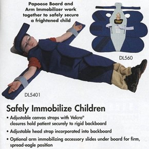 Safely secure a frightened child?