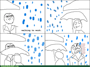 Umbrella Etiquette Rage