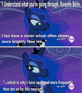 Luna's trying to outdo Celestia this season...