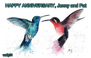 HAPPY ANNIVERSARY, Jenny and Pat