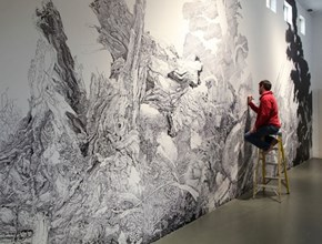 This Mural Was Made Entirely of Ordinary Sharpie