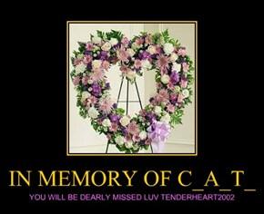 IN MEMORY OF C_A_T_