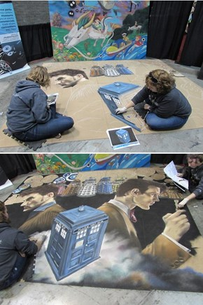 Awesome Doctor Who Mural Was Made In One Convention