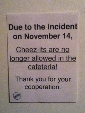 Scandal: School Bans Cheez-Its