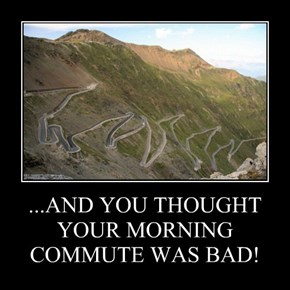 ...AND YOU THOUGHT YOUR MORNING COMMUTE WAS BAD!