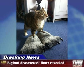 Breaking News - Bigfoot discovered! Hoax revealed!