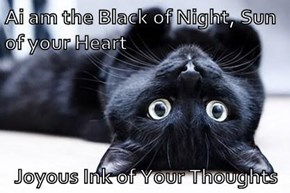 Ai am the Black of Night, Sun of your Heart  Joyous Ink of Your Thoughts