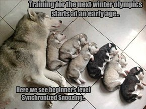 Training for the next winter olympics starts at an early age..