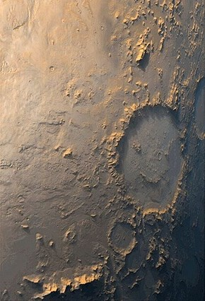 Galle Crater on Mars