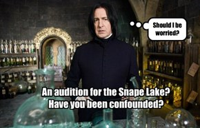 An audition for the Snape Lake?  Have you been confounded?
