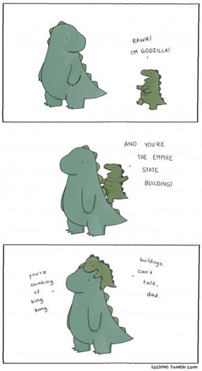 Godzilla's Kid is a Wise Guy