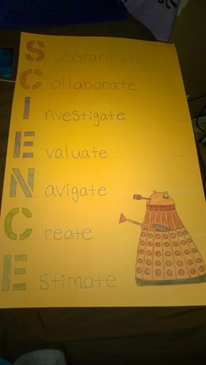 Daleks teach us proper science ettiquette