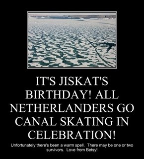 IT'S JISKAT'S BIRTHDAY! ALL NETHERLANDERS GO CANAL SKATING IN CELEBRATION!