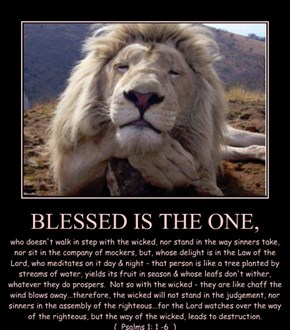 BLESSED IS THE ONE,