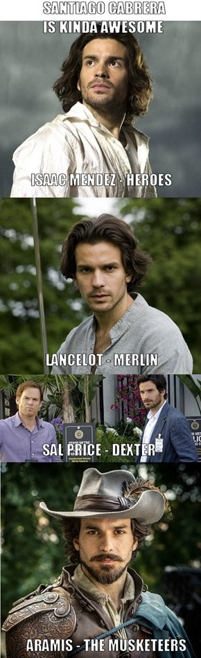 A Wild Santiago Cabrera Appeared