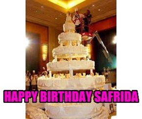HAPPY BIRTHDAY SAFRIDA