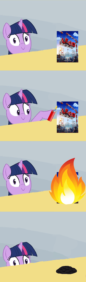 Some ponies just want to watch bricks burn