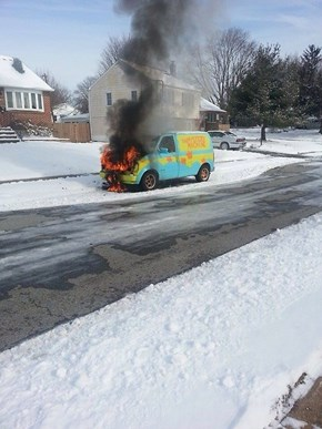 That's Not the First Time the Mystery Mobile was Blazing...
