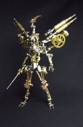 This Awesome Brass Angel Was Constructed Using Scrap Metal!