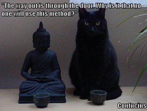 """The way out is through the door. Why is it that no one will use this method?""  Confucius"