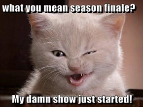 what you mean season finale?  My damn show just started!