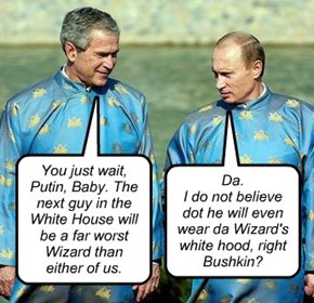 Eerie Dubya/Putin meeting