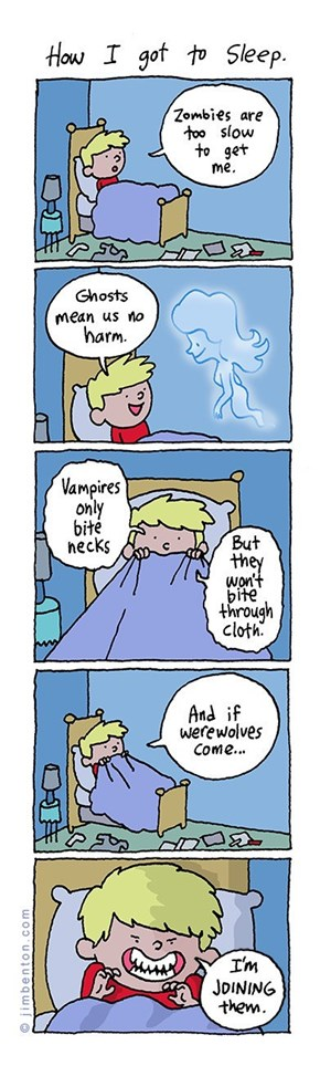 How I Get To Sleep in a World of Monsters