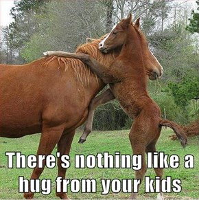 There's nothing like a hug from your kids