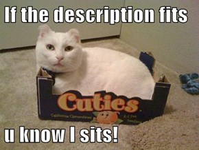 If the description fits  u know I sits!