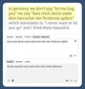 German Was Always Such a Romantic Language