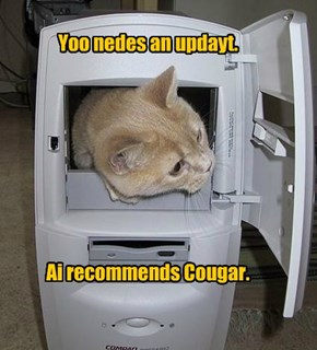 Yoo nedes an updayt.          Ai recommends Cougar.