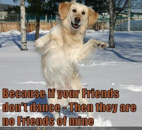 Because if your Friends don't dance - Then they are no Friends of mine