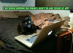 I've been online for hours and I'm not tired at all!