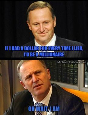 John Key - The Millionaire Liar